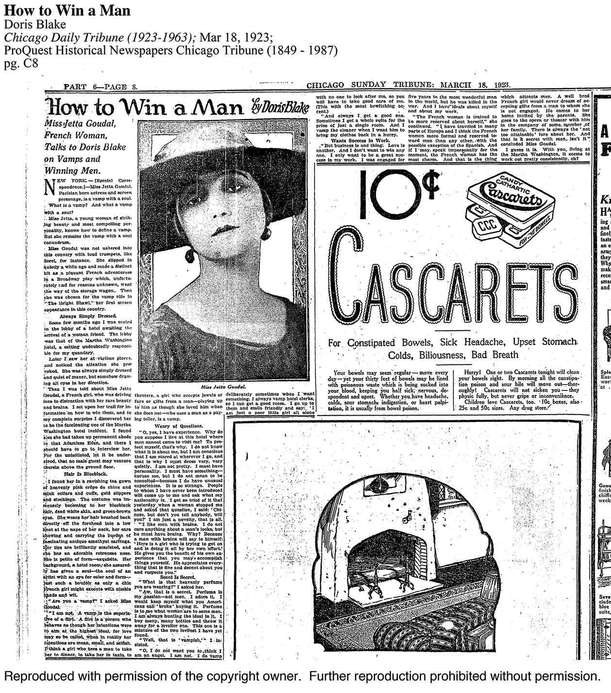 Chigaco Daily Tribune – 1923