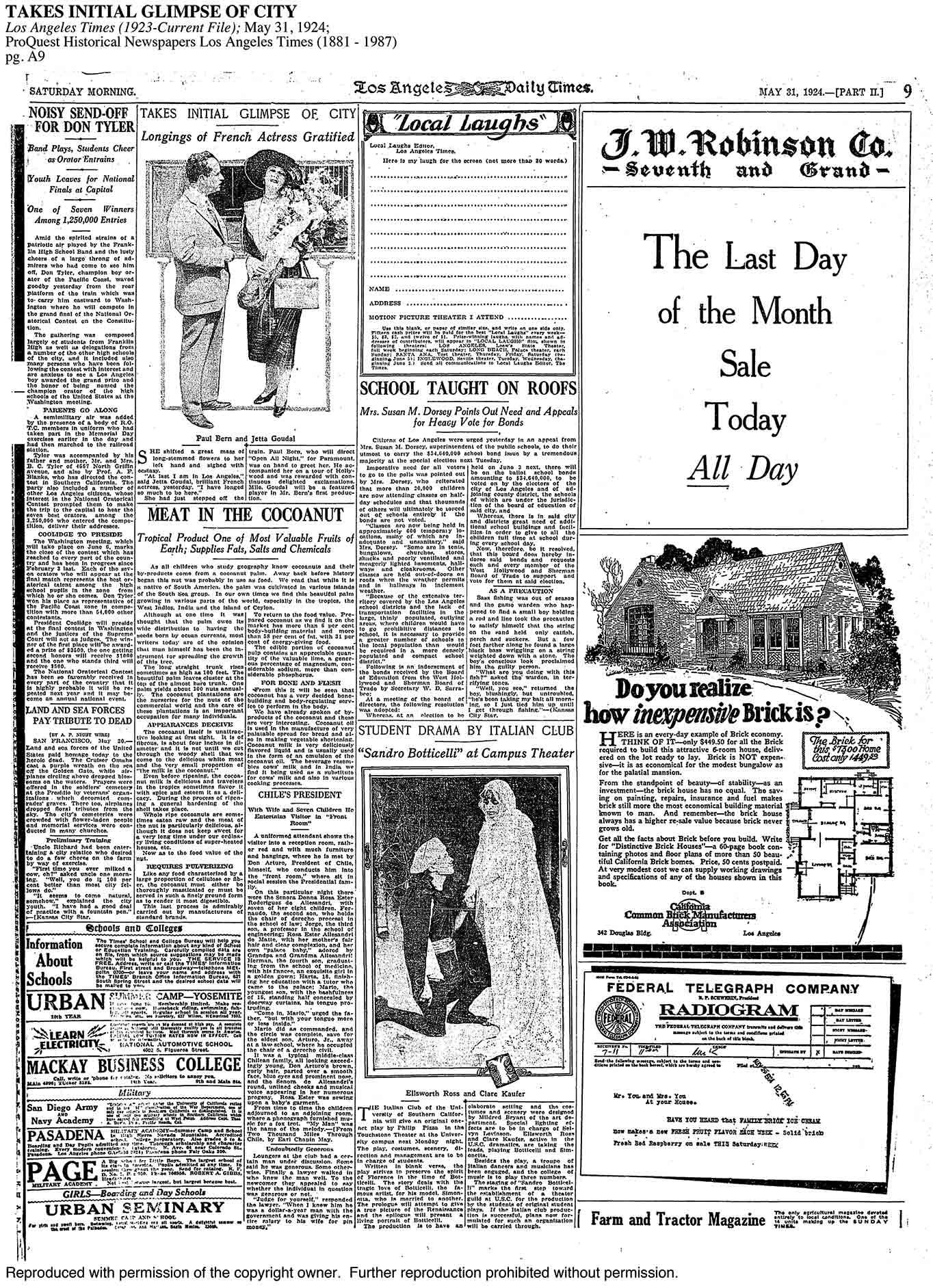 L.A. Times – 1924