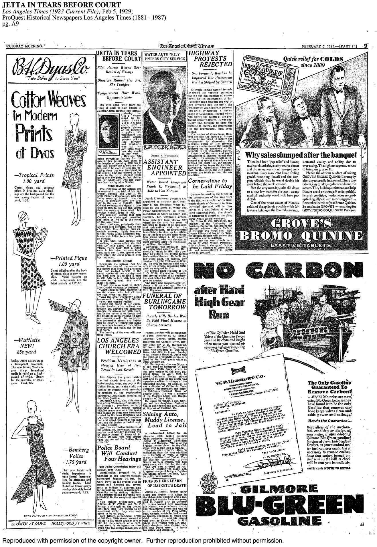 L.A. Times – 1929